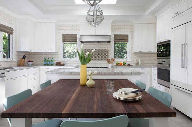 Dining Table Next To Kitchen Island Design Ideas