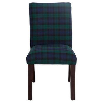 Red And Green Plaid Dining Chair