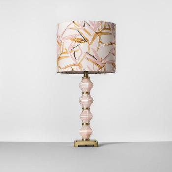 Maura Daniel Milan Pink Small Table Lamp