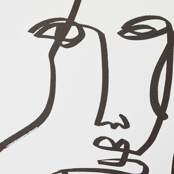 Black White Modern Femme Removable Wallpaper