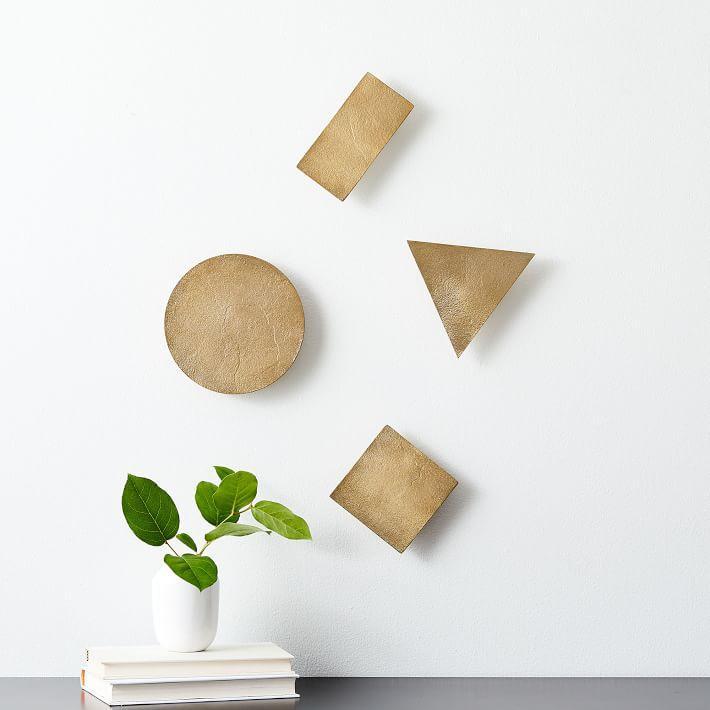 5532836a40 Confetti Brass Shapes Wall Art