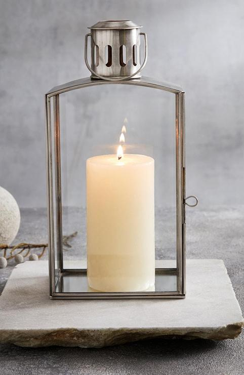 Caprise Clear Pillar Candle Holders