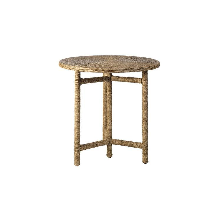 Surprising Montauk Round Rope Wrapped Side Table Andrewgaddart Wooden Chair Designs For Living Room Andrewgaddartcom