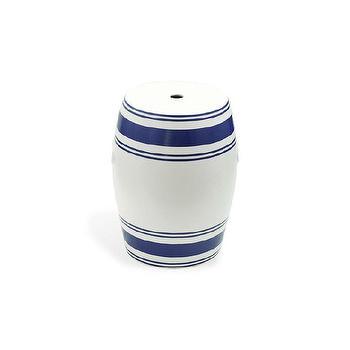 Lattice White Ceramic Garden Stool