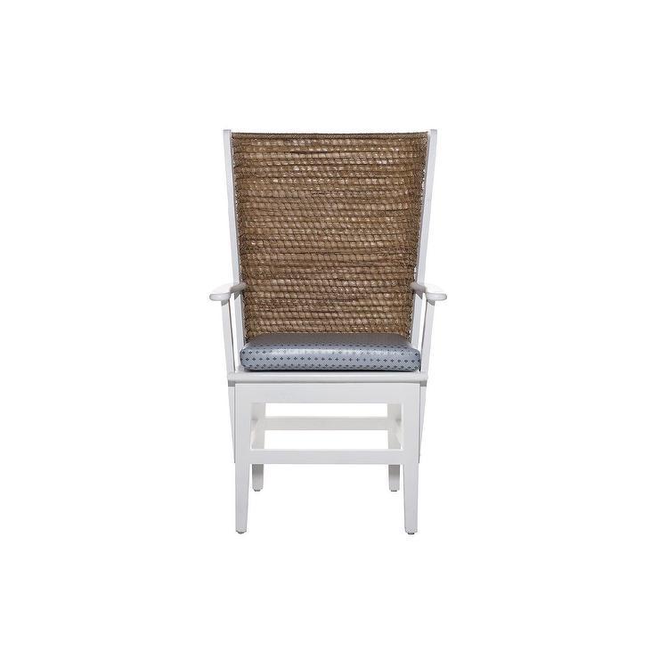 Prime Lawrence Tall Rattan Back White Wood Dining Chair Short Links Chair Design For Home Short Linksinfo