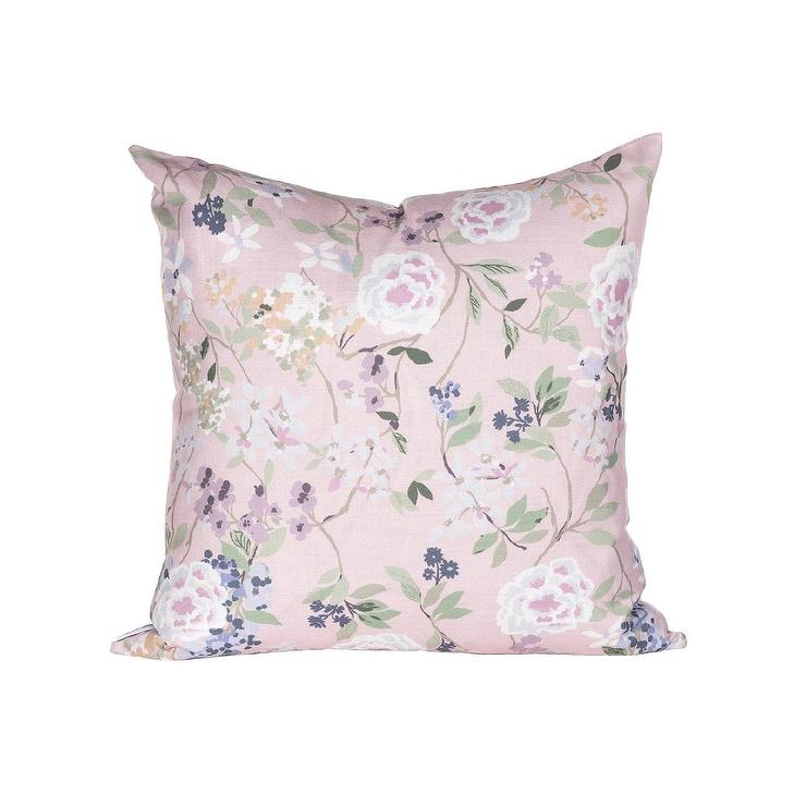 Piper Blush Floral Accent Pillow