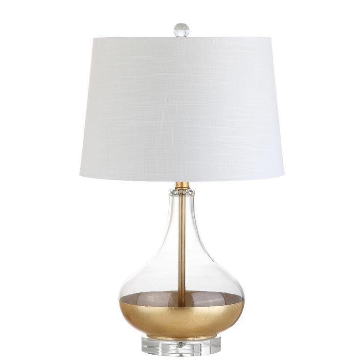 West Gold Leaf Glass Bottle Table Lamp