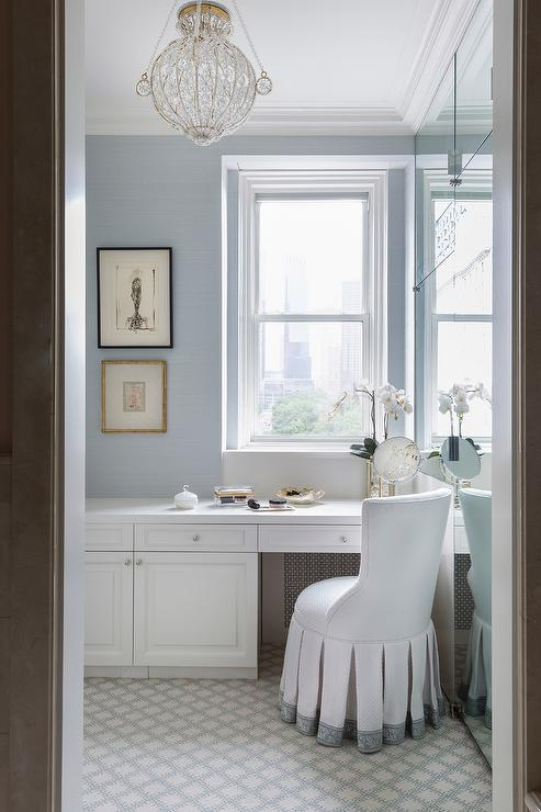 Fantastic White And Blue Vanity Stool At Built In Makeup Vanity Camellatalisay Diy Chair Ideas Camellatalisaycom