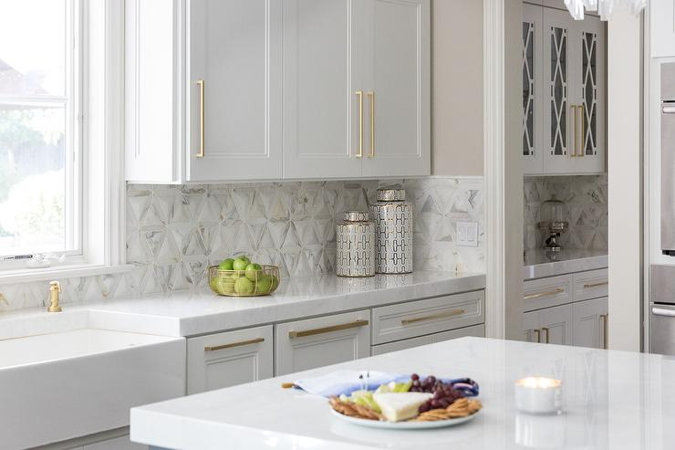White And Gray Diamond Kitchen Backsplash Tiles Design Ideas