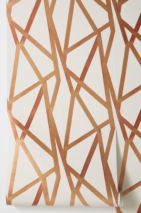 Redding Arabesque Pattern Gold White Wallpaper