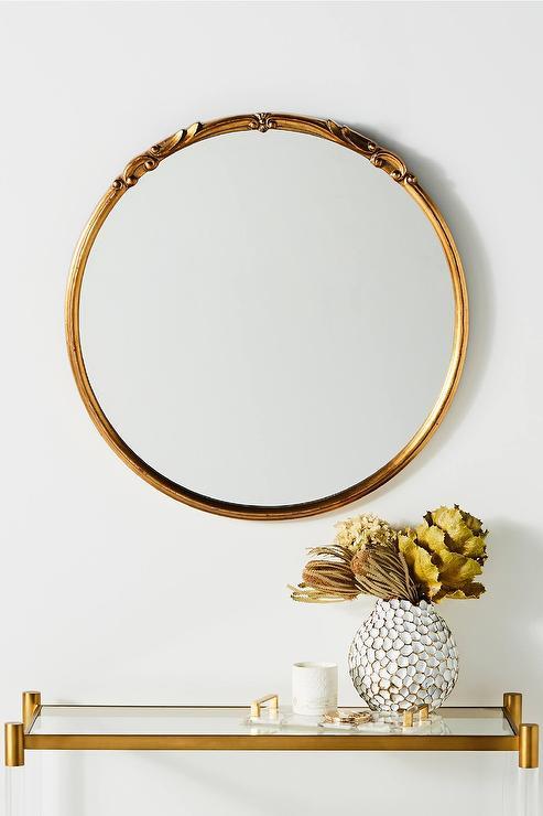 gold mirror wall decor.htm emma round antique gold iron mirror  emma round antique gold iron mirror