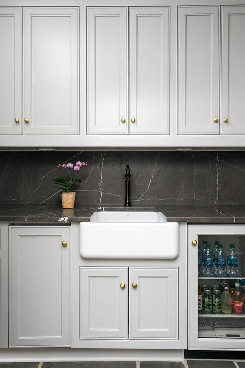 Gold Metal Kitchen Cabinet Door Panels Transitional