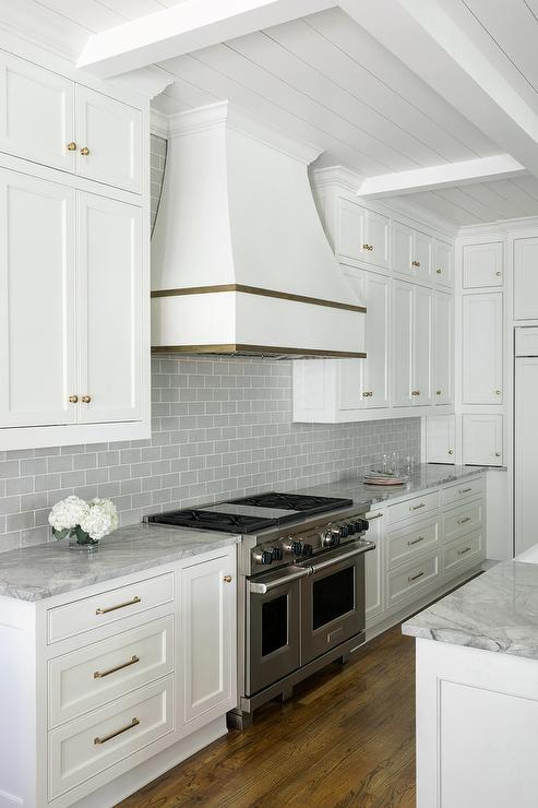 Gray Glazed Kitchen Cabinets