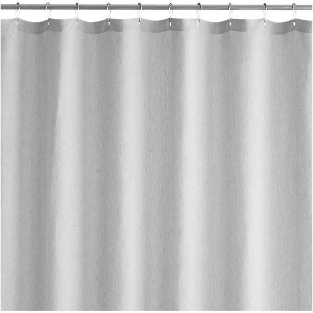 Chambray Gray Linen Shower Curtain