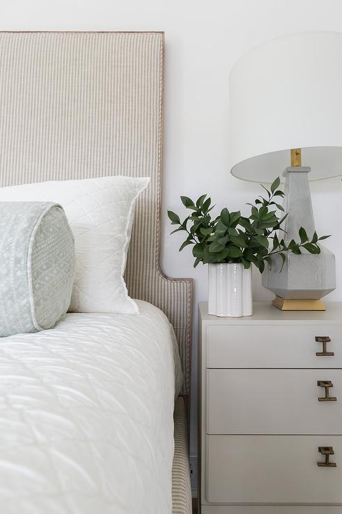 White Slipcover Sofa And Chair In Master Bedroom