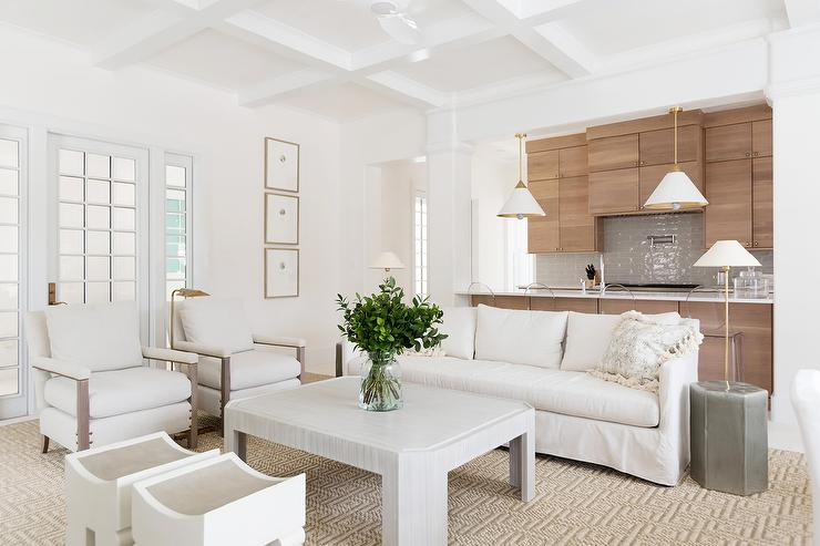 Admirable White Slipcovered Sofa With Light Gray Wood Coffee Table Alphanode Cool Chair Designs And Ideas Alphanodeonline