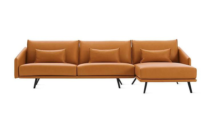 Henry 3 Piece L Shaped Brown Sectional