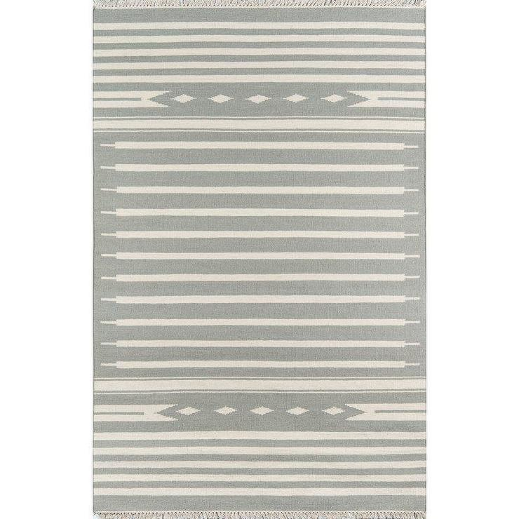 Nomad Printed Cotton Dhurrie Straw West Elm