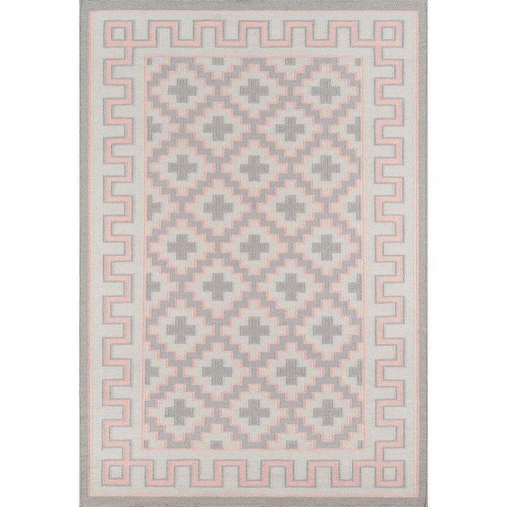 Threshold Vintage Pink Gray Wool Rug