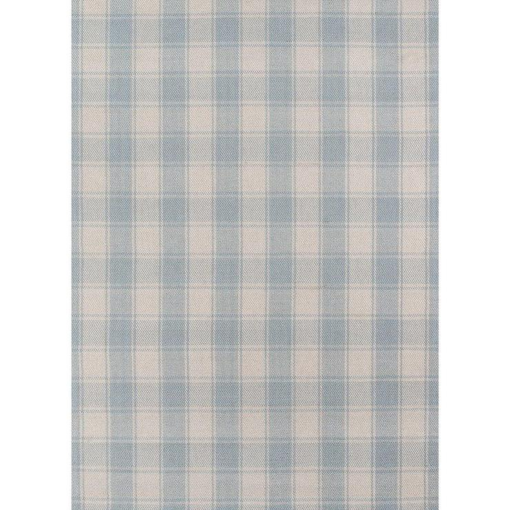 Charles Light Blue Checkered Wool Area Rug