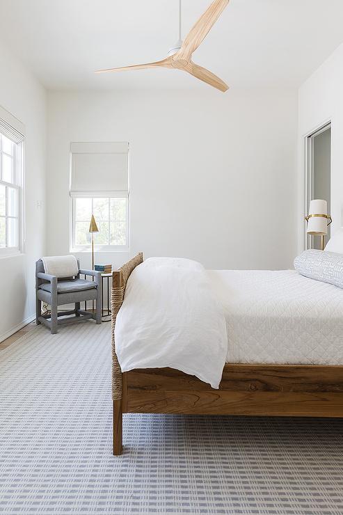 Bedroom Modern White Ceiling Fan Design Ideas