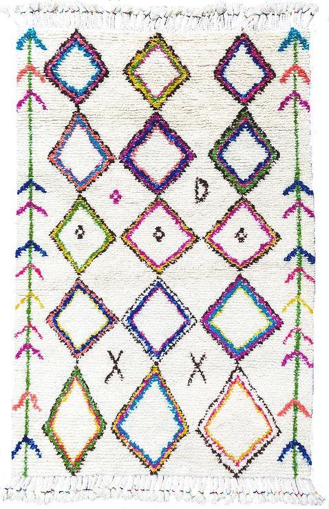 Dhurrie Diamond Soho Trellis Rug 3 Colors Shades Of Light