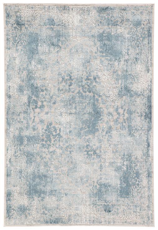 Blue Gray Ombre Brushstrokes Rug