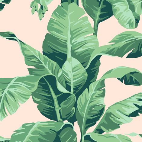 Wallpaper Designer White Tan Green Tropical Palm Leaves on Light Blue