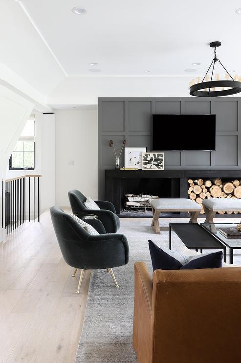 Prime Orange Leather Sofa With Black Velvet Chairs Transitional Inzonedesignstudio Interior Chair Design Inzonedesignstudiocom