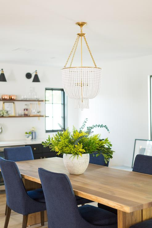 Surprising Light Wood Dining Table With Blue Chairs Transitional Alphanode Cool Chair Designs And Ideas Alphanodeonline