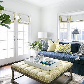 Yellow And Blue Living Rooms Design Ideas