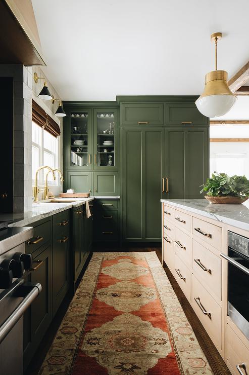 Green And Orange Kitchen Design Ideas