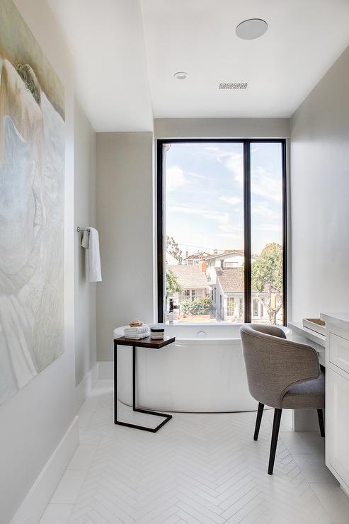 Gray Subway Tile Bathroom