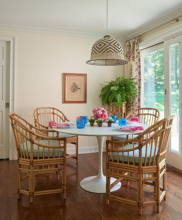 size 40 e9808 93d73 Rattan Chairs at Saarinen Dining Table - Cottage - Dining Room