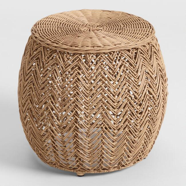 Bailey Wicker Woven Arm Stools