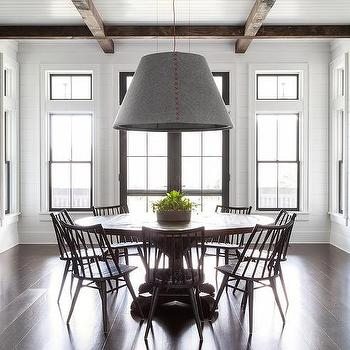 Dark Dining Table With Light Chairs