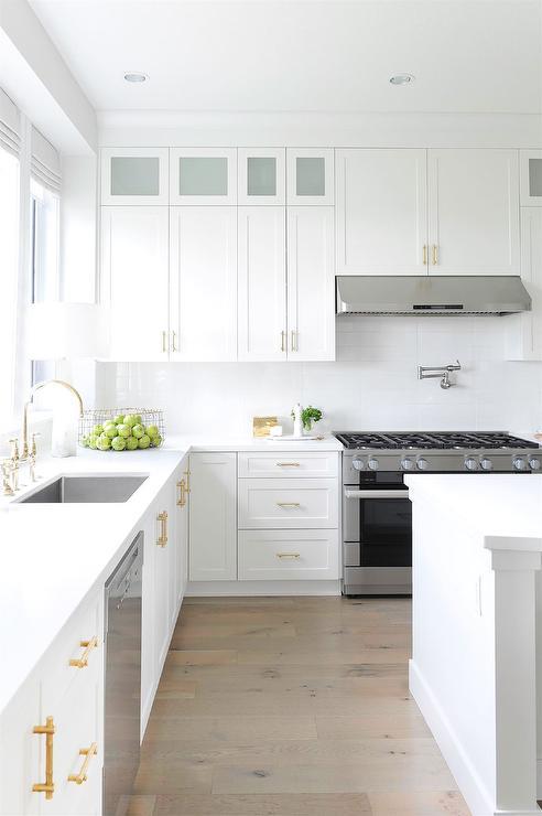 Gold Bamboo Kitchen Cabinet Hardware Design Ideas