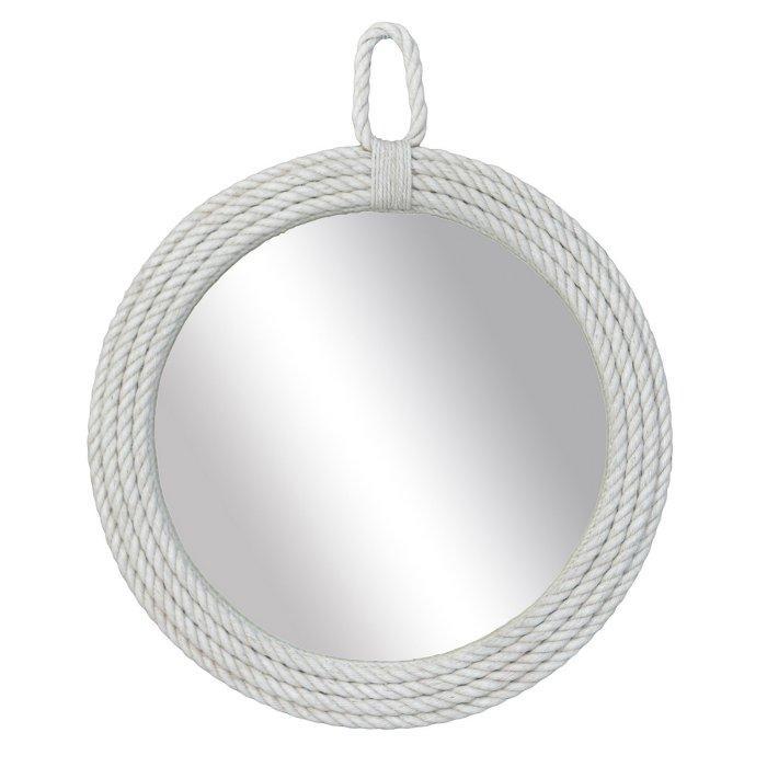 East At Main Carol Round White Rope Wall Mirror