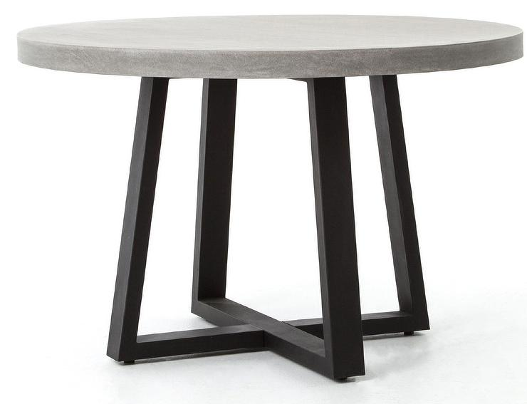Agatha Round Concrete Indoor Outdoor Dining Table