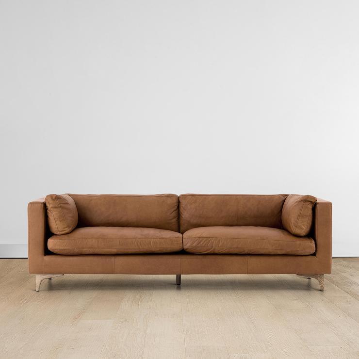 Strange Jocelyn Cognac Leather Wood Legs Sofa Onthecornerstone Fun Painted Chair Ideas Images Onthecornerstoneorg