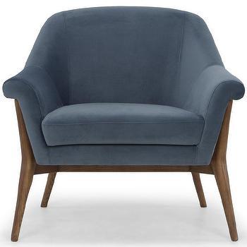 Midnight Blue Ikat Chair
