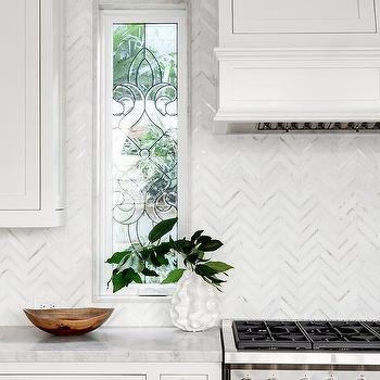 Gray Marble Chevron Kitchen Wall Tiles Design Ideas
