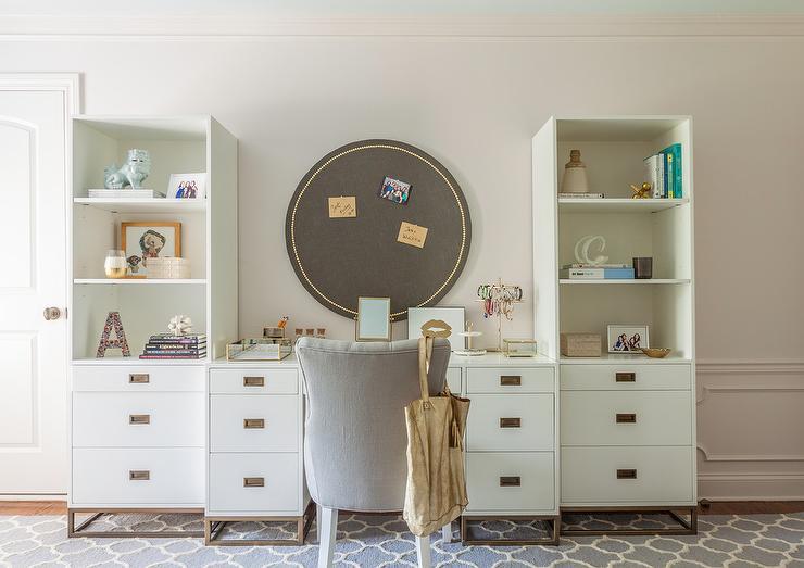 Stupendous Rh Teen Avalon Storage Desk With Gray Accent Chair Machost Co Dining Chair Design Ideas Machostcouk