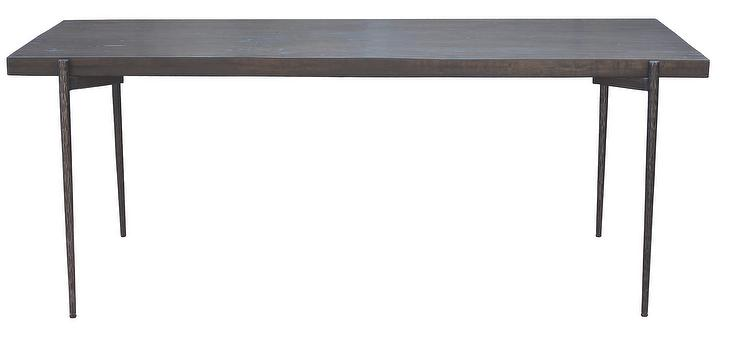Alyce Antique Iron Reclaimed Wood Dining Table