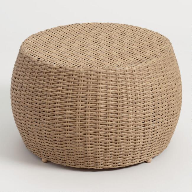 Vilamoura Round Woven Wicker Outdoor Coffee Table