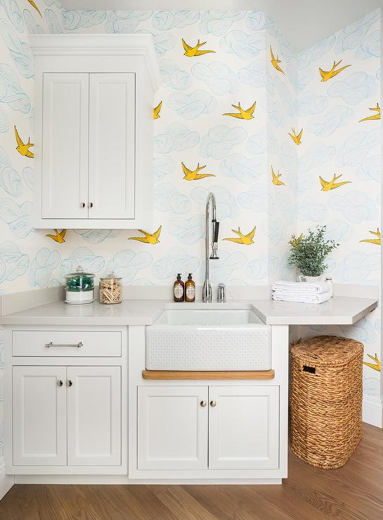Laundry Room With Hygge And West Daydream Sunshine Wallpaper