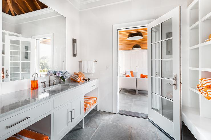 Gray And Orange Bathroom Design Ideas