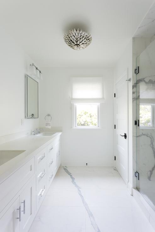 Bathroom Light Gray Semi Flush Mount Design Ideas