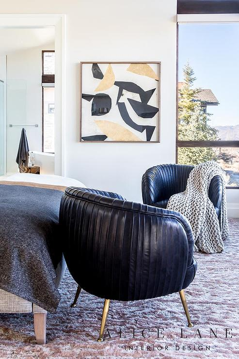 Black Kelly Wearstler Souffle Chairs - Transitional - Bedroom