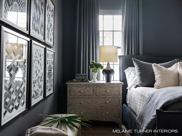 Dark Gray Bedroom Curtains Design Ideas